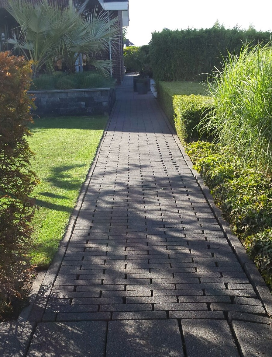 Tuin en bestrating door WSK Oudeschoot